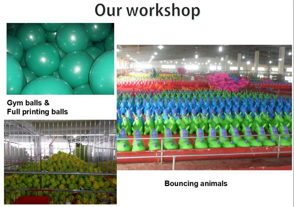 PVC inflatable bouncy jumping animal toy