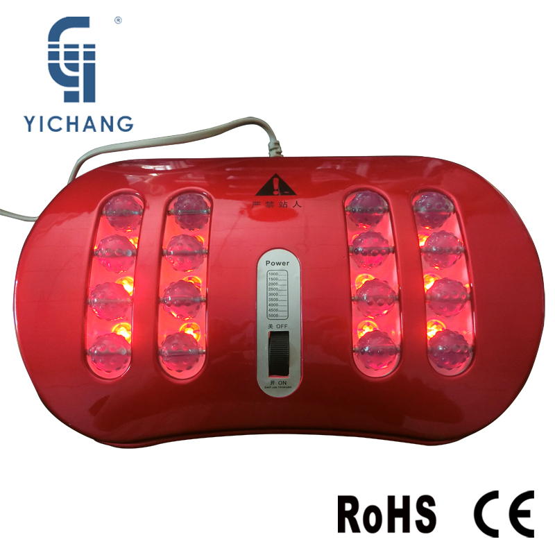 red infrared heating rollers vibrate mechanical massage of foot