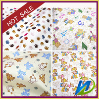 baby fabric100% cotton poplin printed animal pictures print fabric for baby and children