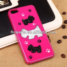 FL2018 Dog footprint diamond case for iphone 5 5G