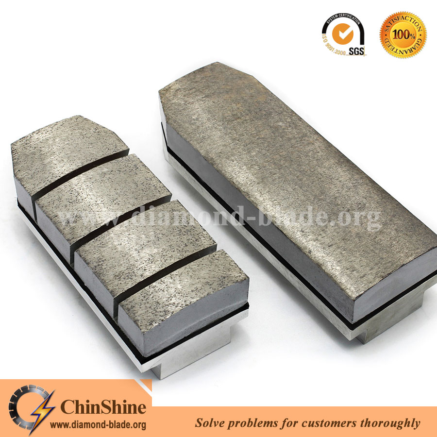 Metal brick diamond fickert for granite grinding sanding tools with long life