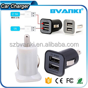 fast charger mobile phone accessories Micro Auto Universal 5V 3.1A Dual USB car charger for iphone for samsung for smart phone