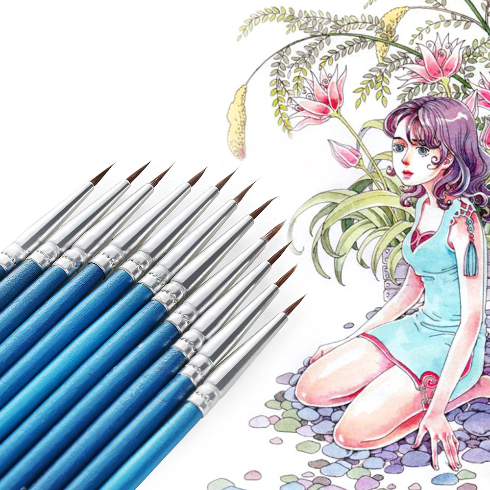 Nylon Fiber Hair Line Drawing Pen Fondant Cake Decorating Artist Paint Brush