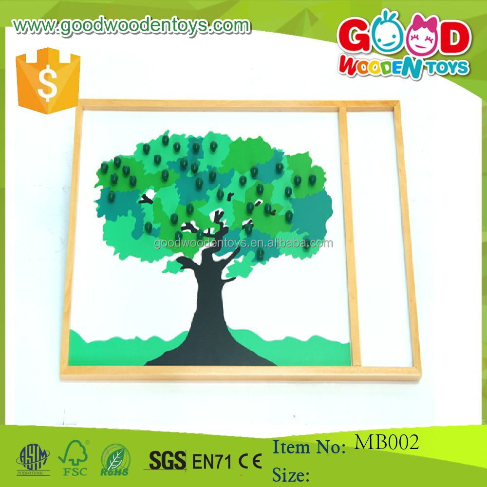 Montessori Materials in China/Montessori Teaching aid/Montessori Apple Tree puzzle Game