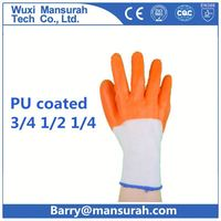 POWERTY 13/15 gauge hot sale soft gardening use sandy glove water pu coated glove