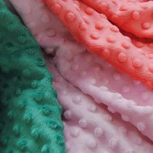 China Most Professional Wholesale Of 26 Colors Minky Fabric Dot