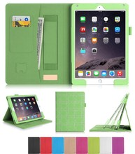 Flip Leather Case with Hand Strap and Card Holder for iPad Air 2
