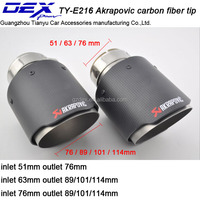 Akrapovic Carbon Fiber Exhaust Muffler TIP auto part exhaust tip