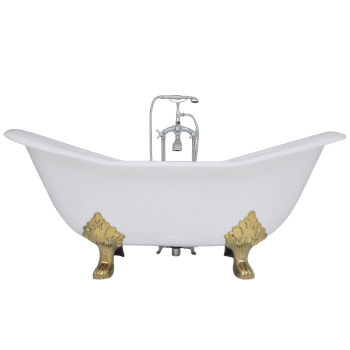 Double Slipper Cast Iron Bathtub on Lion Paw Feet