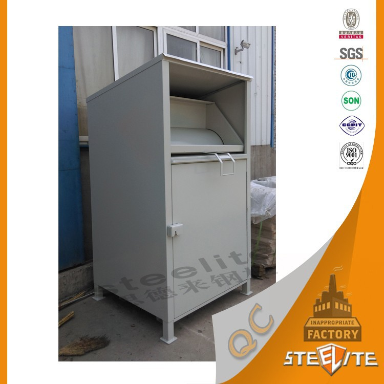 Durable Outdoor Furniture Old Clothes Collection Steel Locker
