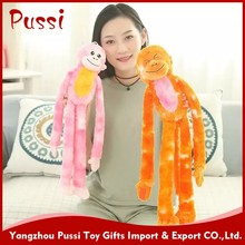 Custom Cheap Long Arms and Legs Monkey Plush Toy for Girl