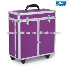 Aluminum hairdressing makeup trolley case