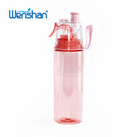 2018 best selling BPA free spray cup with lid and plastic sport water bottle