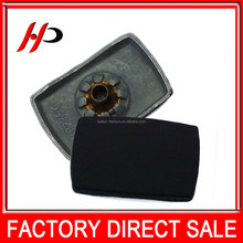 Fashion design eco-friendly black painting four parts square metal metal snap buttons for baby sweaters
