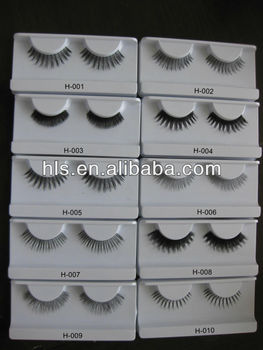 OEM service 100% human hair made natural false eyelash