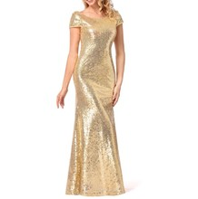 up-0752r Luxury women long party dresses stylish sequin cocktail dresses