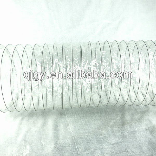 Flexible transparent plastic helix air ducting