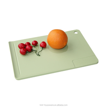 Taizhou Hengming pp household wholesale kitchen chopping board hanging large plastic vegetable cutting board kitchen