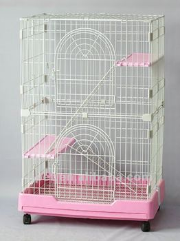 C225a, wire plastic folding Cat cage, 3 floors 2 colors