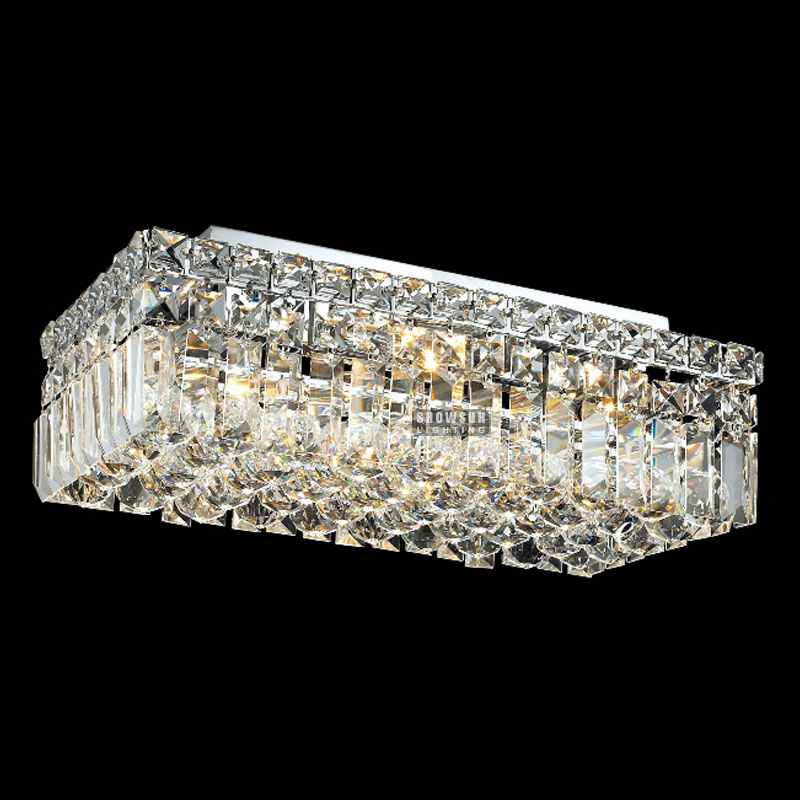 2017Wholesale chrome square modern led crystal chandelier