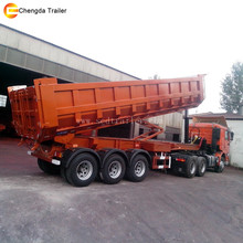 3 axles dump tipping trailer 60tons tipper semi trailer