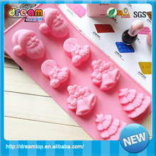 Professional custom christmas gift snowman shape silicone cake chocolate mold