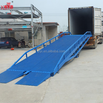 Mobile hydraulic loading yard ramp for sale vehicle ramp