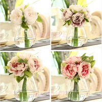 5 Heads Artificial Peony Flower Hydrangea For Wedding Party Bridal Home Decor