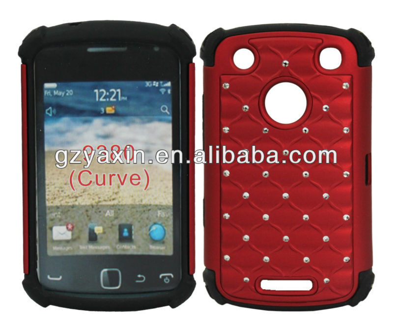 for blackberry 9380 sublimation case,red diamond cell phone cases