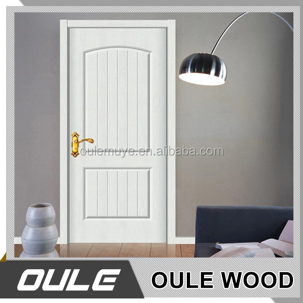 Safety Timber Vennered Wooden Single Main Door Design for Hotel