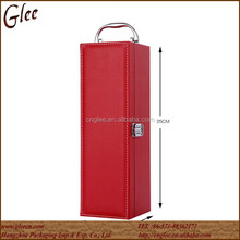 red single bottle box leather wine carrier boxes of wine boxes for sale
