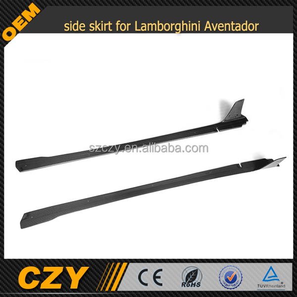 carbon fiber side skirt for Lamborghini Aventador LP700 D style