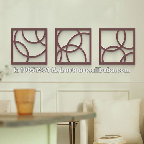 Premium Wall Art_Wood Wall Art_Modern Home Deco_3D home design deco/ Bubble Round_SS set