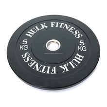 2016 Crossfit training black solid rubber bumper plates