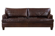 2016 Luxury solid wood hotel furniture living room modern PU leather sofa