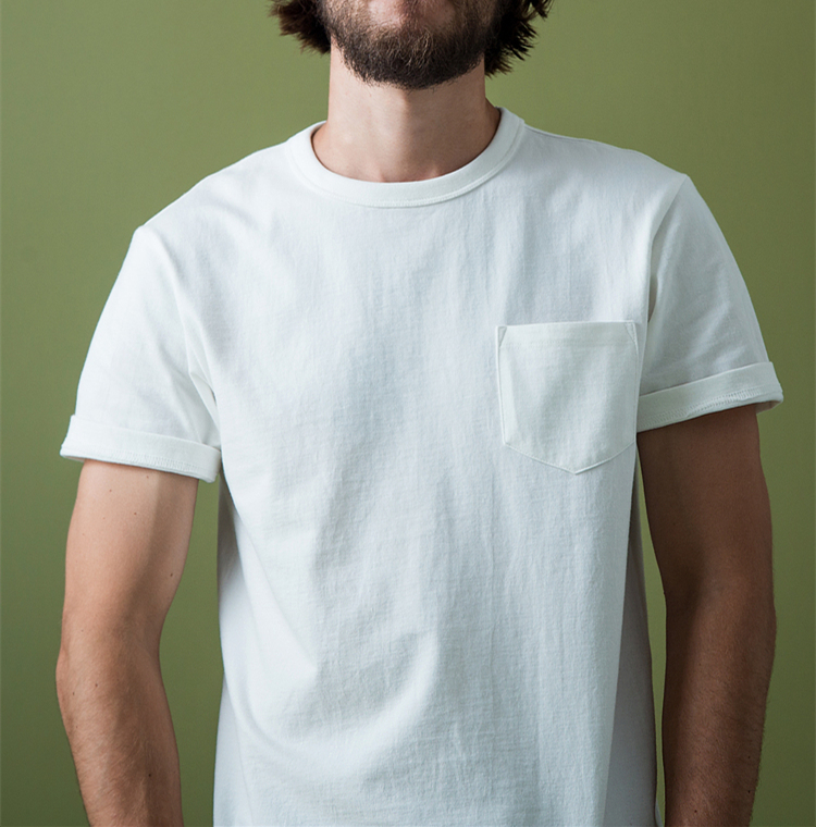 Left Chest Pocket Decorative T Shirt White For Men