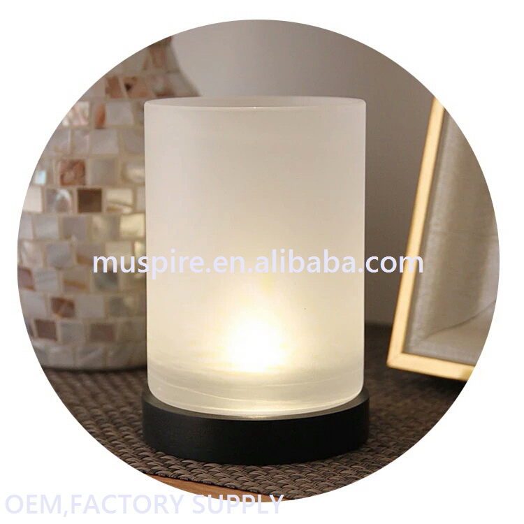 China manufacture best sell led glass candle decoration