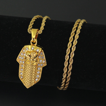 New Hip Hop Egypt Pharaoh King Pendant Necklace Jewelry 24inch Stainless Steel chain N855