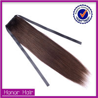 Top quality no tangle Qingdao honor hair little girls ponytail hair extensions