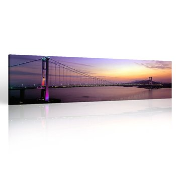Large Canvas Print Wall Art Colourful Sunset Over Island