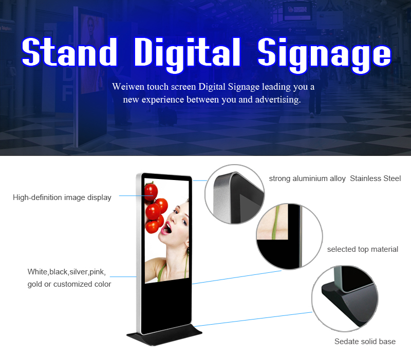 43 inch standalone digital signage player touch screen restaurant tablet e-menu display monitor with hdmi
