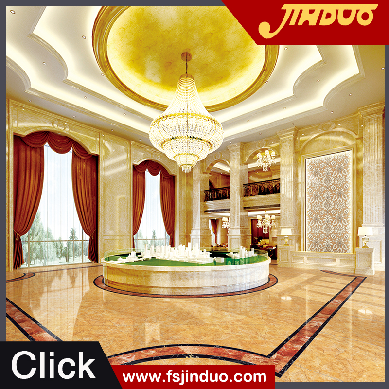 Top 10 famous tiles factory JINDUO ceramics High quality 800x800 beige cheap marble tile