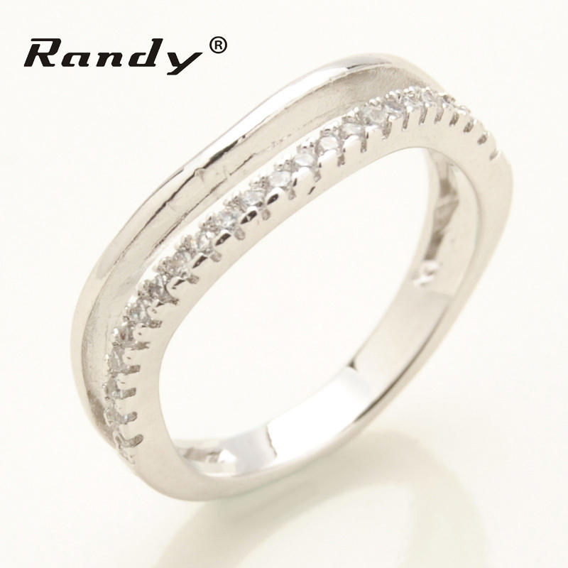 Custom 925 Sterling Silver Men Band Ring Channel Setting With CZ