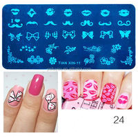 Most popular custom design plastic nail art stamping plates wholesale price