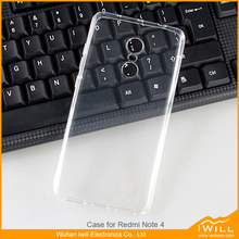 For Redmi Note 4 phone case , super clear thin gel case for Redmi Note 4 shell hang rope hole design