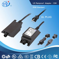US standard ul ce gs approved 24v 500ma constant current waterproof led driver