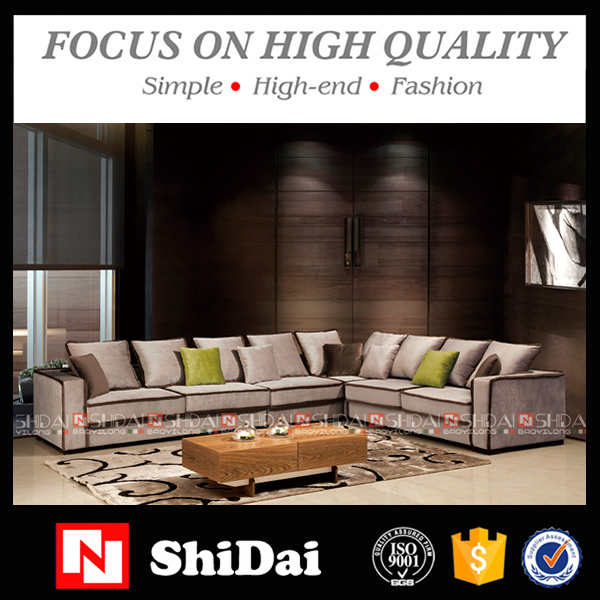 Modern stylish living room funiture fabric corner sofa set G1115