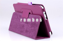 Lychee Grain 2 Fold Leather Stand Folio Pouch Tablet Cases for Asus Memo Pad HD ME175 with Pen Holder