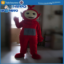 Popular children television show cartoon character red monster teletubby high quality custom mascot costume