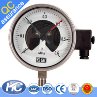 Different inch oil pressure gauge / bourdon tube type pressure gauge / instrument for air pressure with low cost